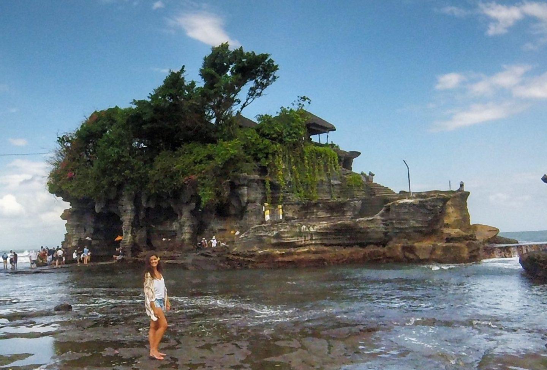 O Templo Tanah Lot em Bali